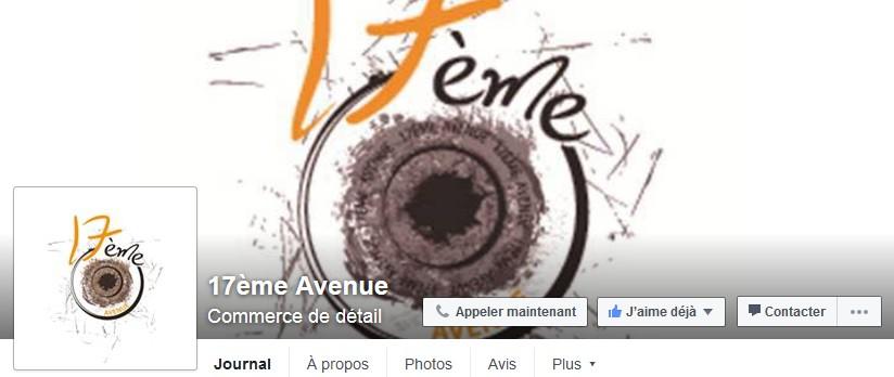 facebook boutique 17 eme avenue cholet