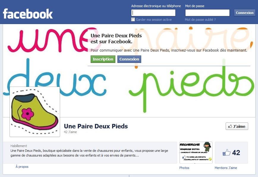 facebook une paire deux pieds
