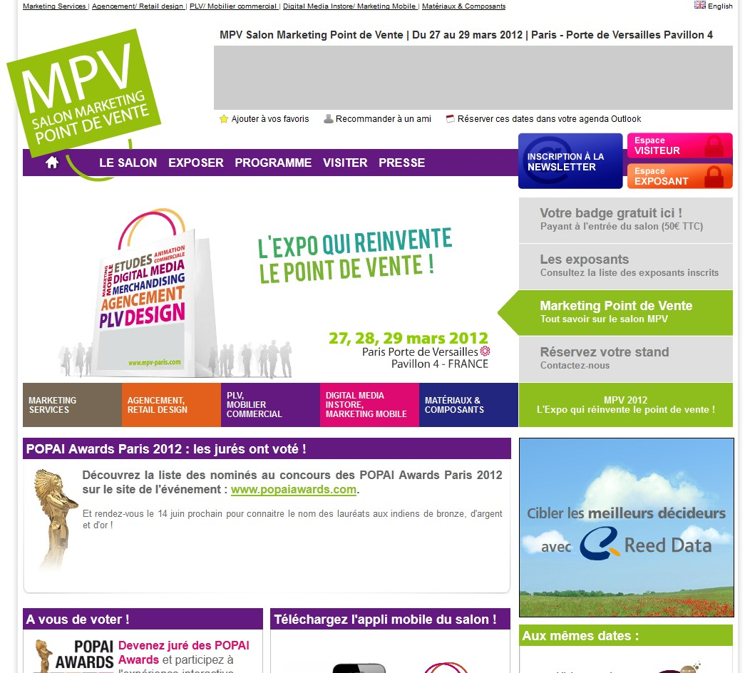 MPV salon marketing point de vente 2012