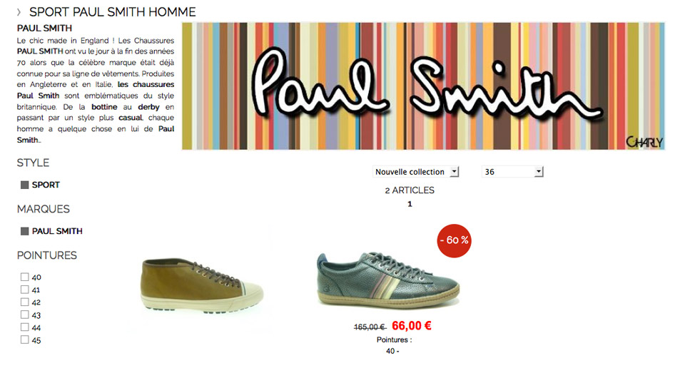 Catalogue du site Charly Chaussures