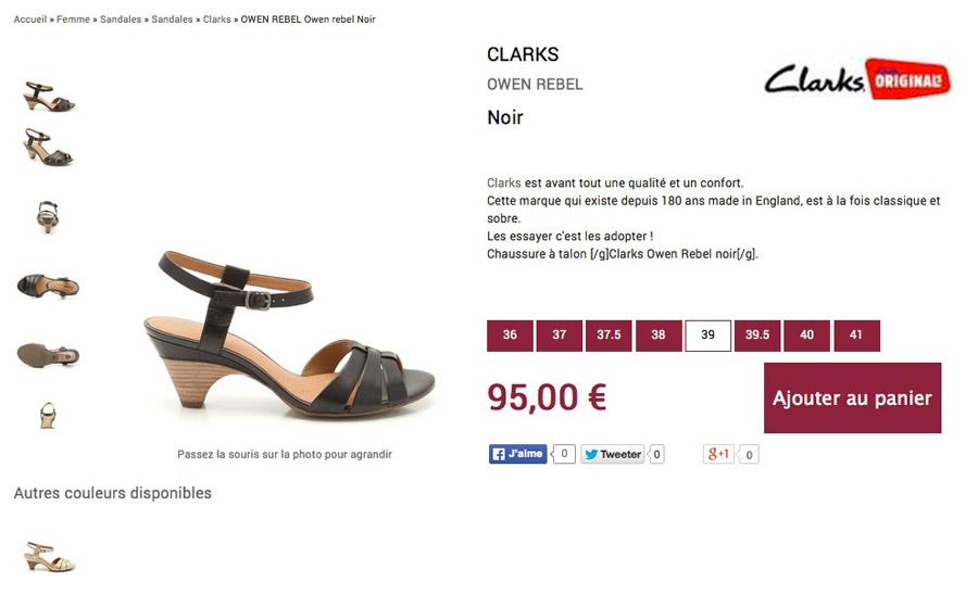 Fiche produit - Shoes Nimes
