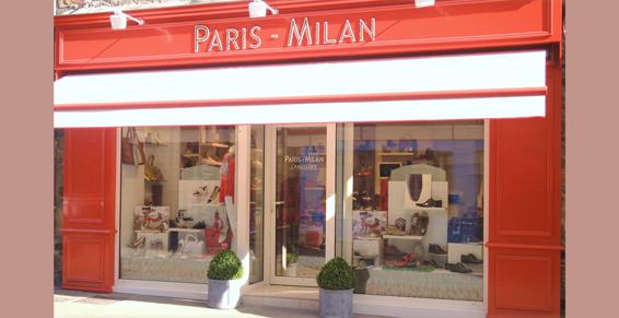 boutique chaussures paris milan