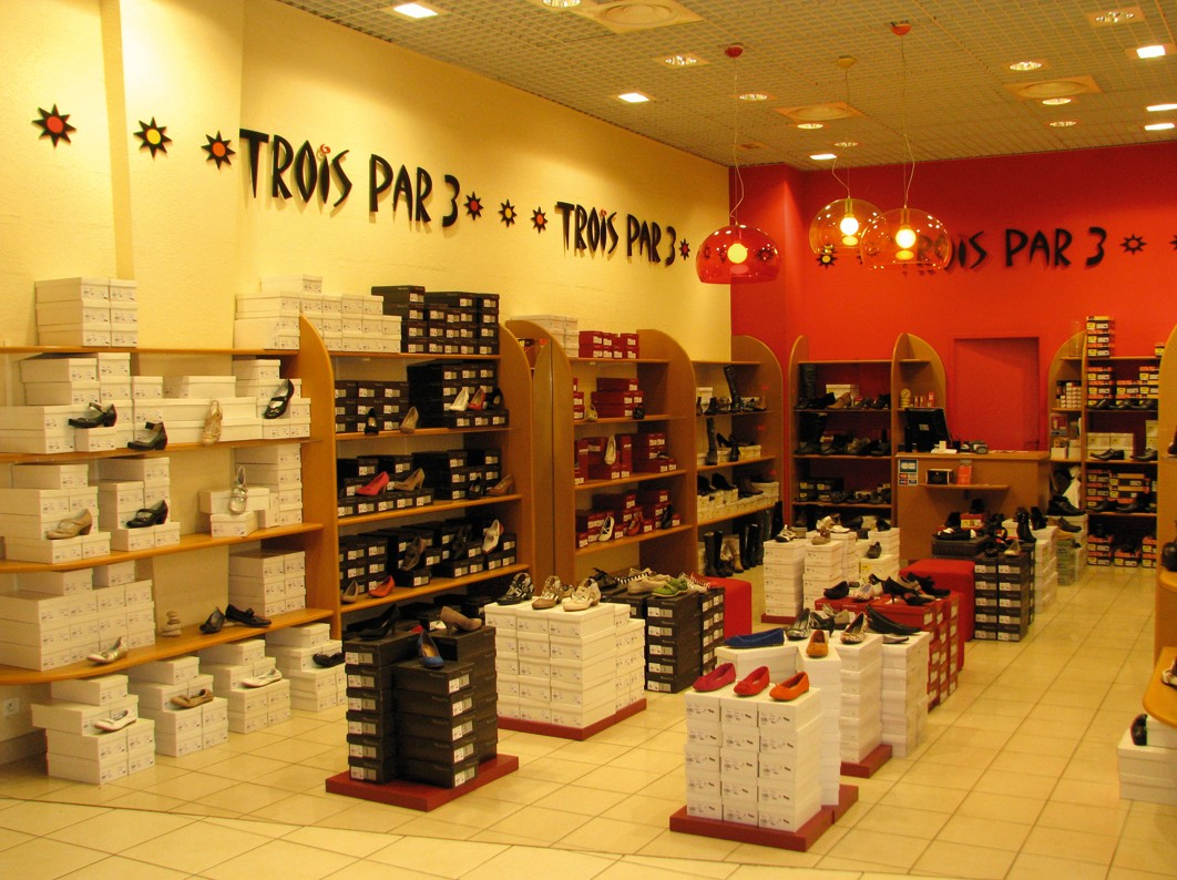 magasin chaussures trignac trois par 3