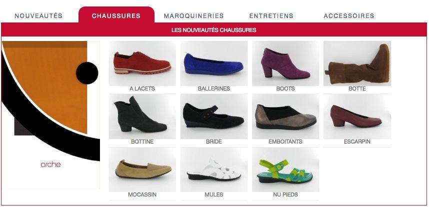 Chaussures Arche Menu