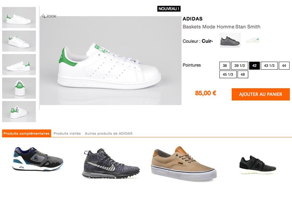 Page produit hype-shoes
