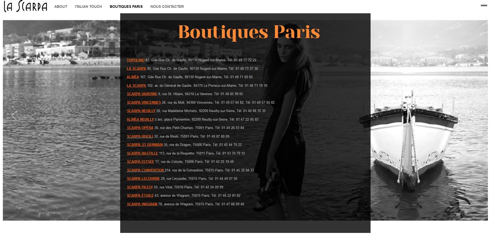 boutiques la scarpa paris